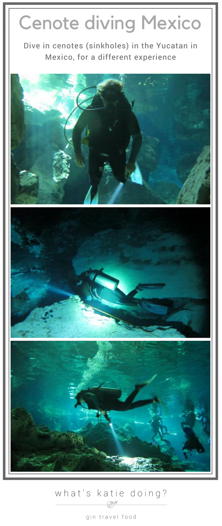 Cenote Diving Mexico image for Pinterest