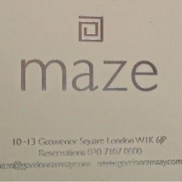 Girls dinner @ Maze