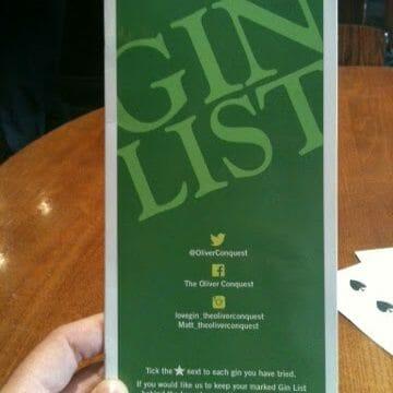 My favourite gin bar!