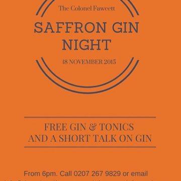 Saffron Gin Tasting