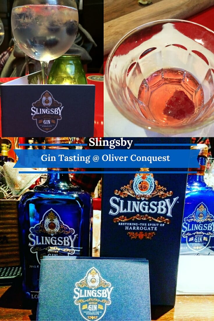 Slingsby Gin Tasting @ Oliver Conquest