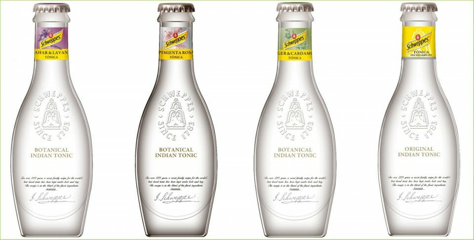 Schweppes Premium mixers - image from Schweppes website