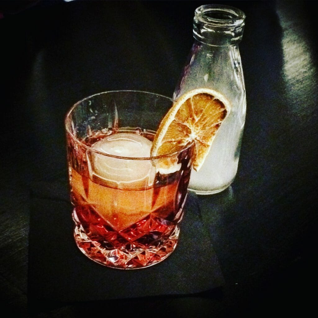 Smoked Negroni - Sober September on What's Katie Doing? blog