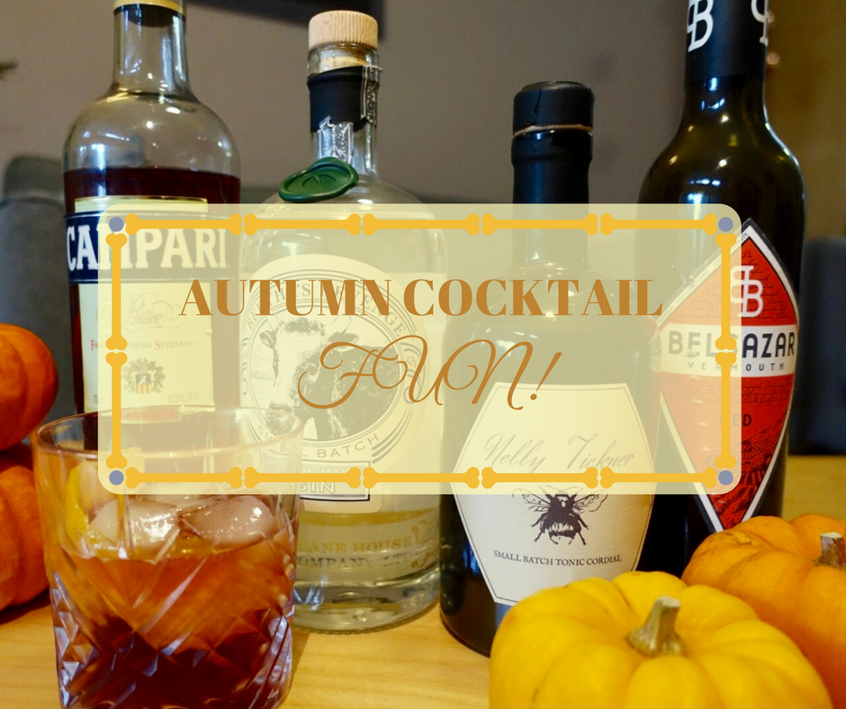 Autumn cocktail fun on What's Katie Doing? blog