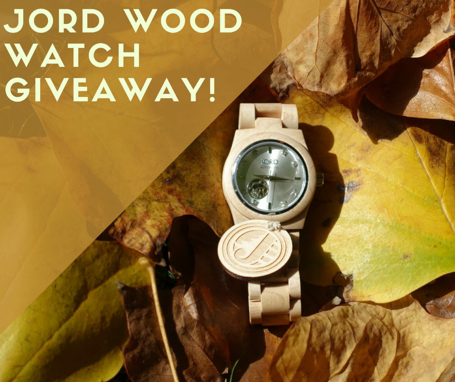 JORD Wood Watch giveaway on What's Katie Doing? blog