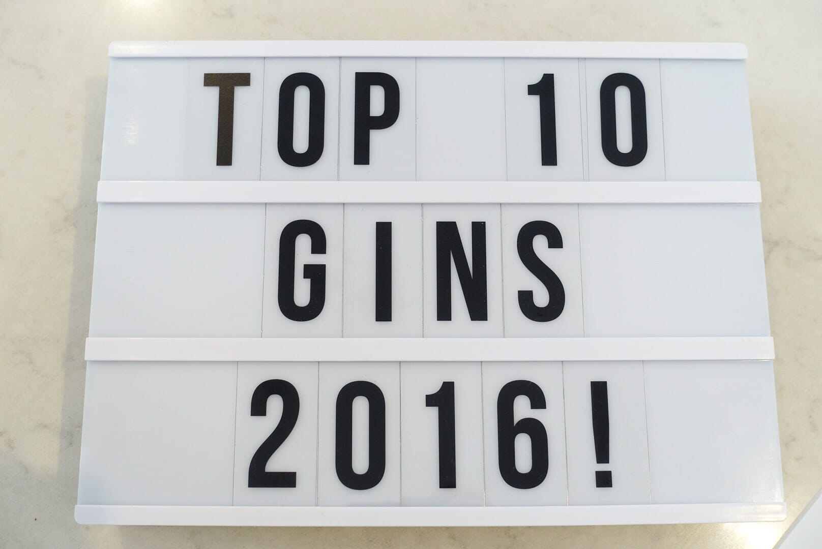 Top gins 2016 on What's Katie Doing? blog