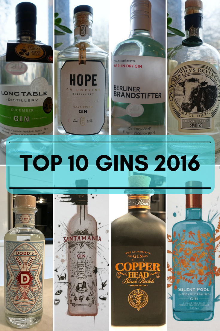 Top 10 gins of 2016 on What's Katie Doing? blog