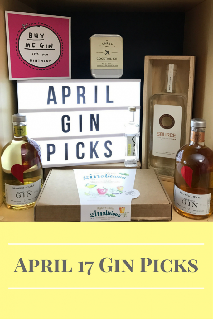 April gin picks on What's Katie Doing? blog