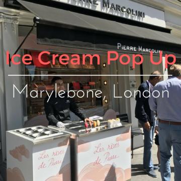Pierre Marcolini pop up ice cream shop