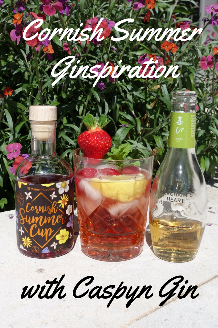 Cornish Summer Ginspiration with Caspyn Gin on What's Katie Doing? blog