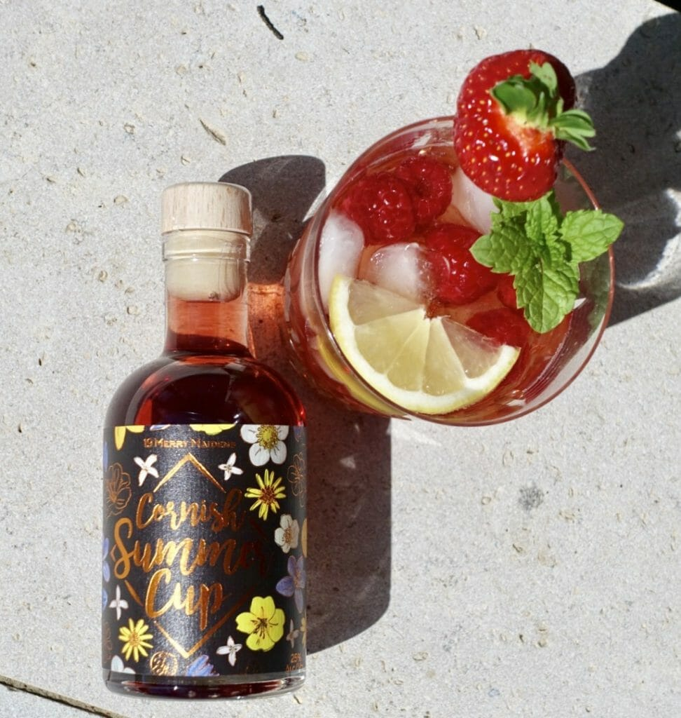 Cornish Summer Cup served with strawberries