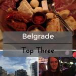 Top Three in Belgrade on What's Katie Doing? blog