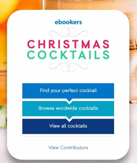 Christmas Cocktails with ebookers on What's Katie Doing? blog