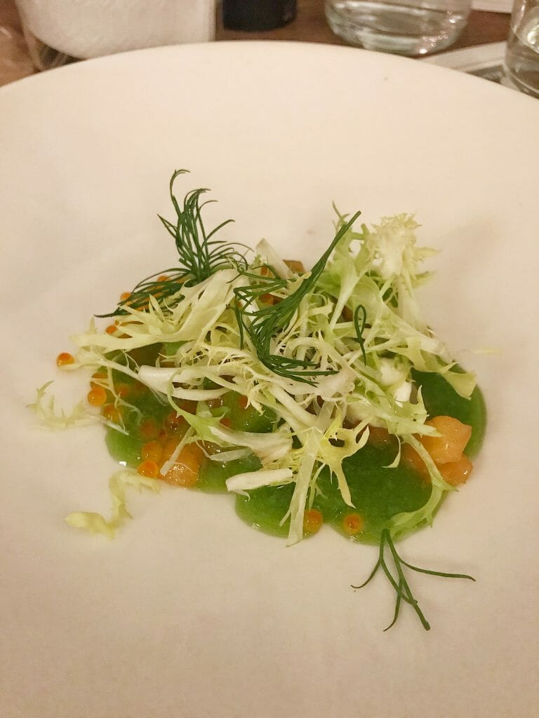 My starter of Asian salmon