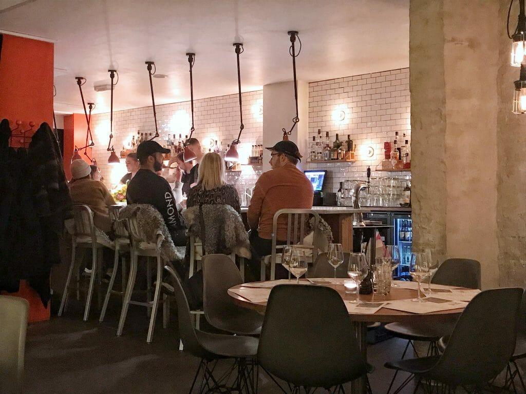 The Madklubben bar area
