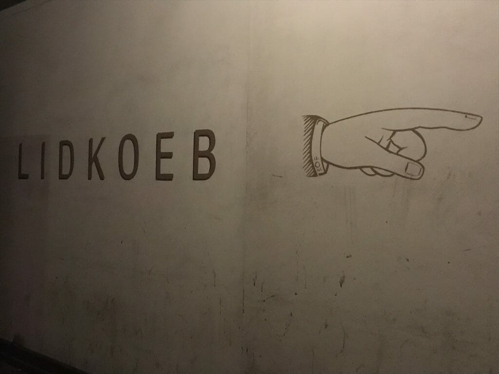 Lidkoeb finger pointing the direction