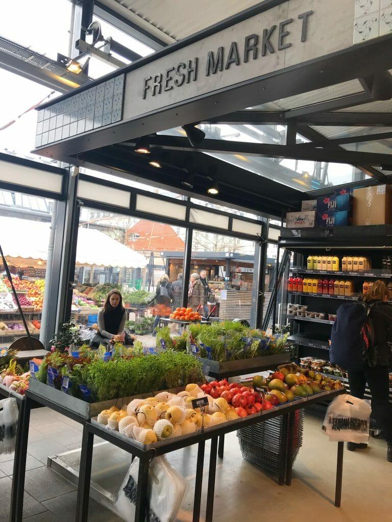 Fresh produce at the food hall