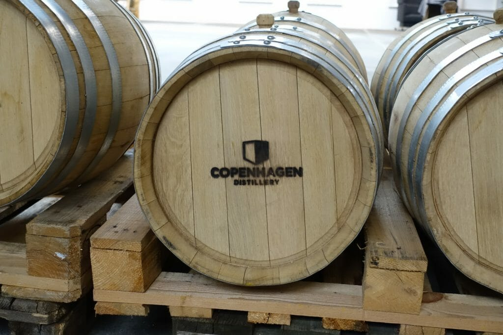 Copenhagen distillery barrel