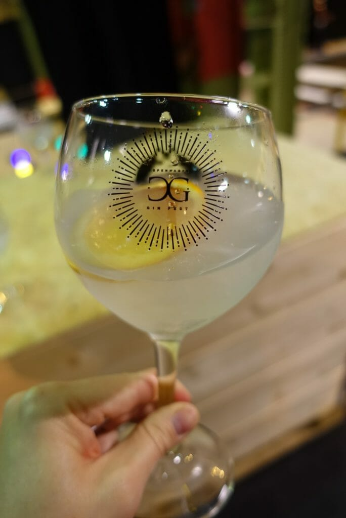 Copenhagen Gin Festival branded copa glass