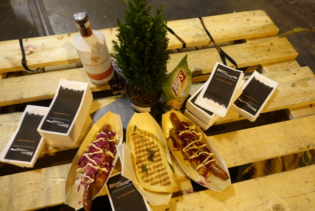 Hot dogs at the Copenhagen Gin Festival