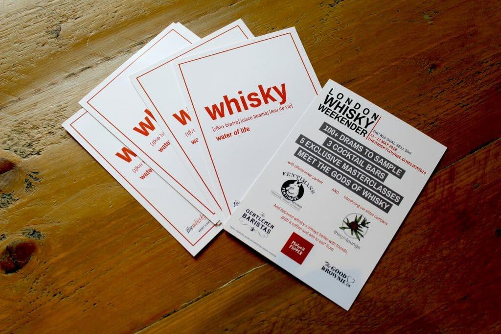 Whisky weekender fliers