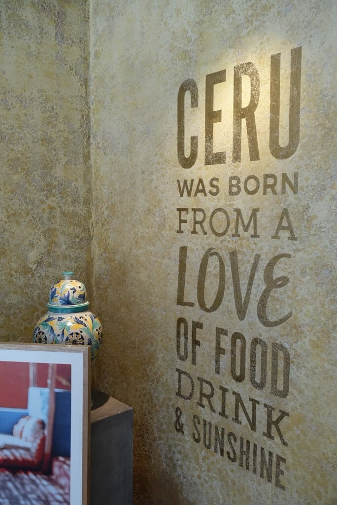 Ceru was born from a love of food drink and sunshine