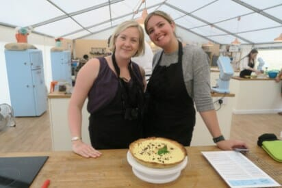 Chelsea and me posing with our finished tart