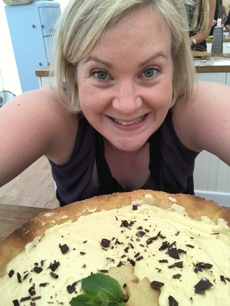 Me and the filled custard tart