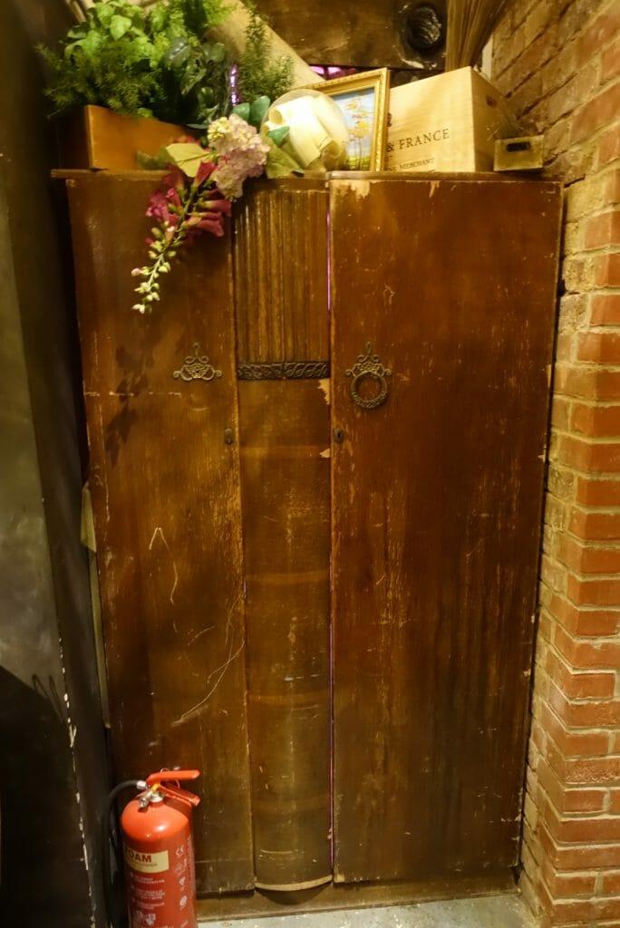 A closed wardrobe hiding secrets!