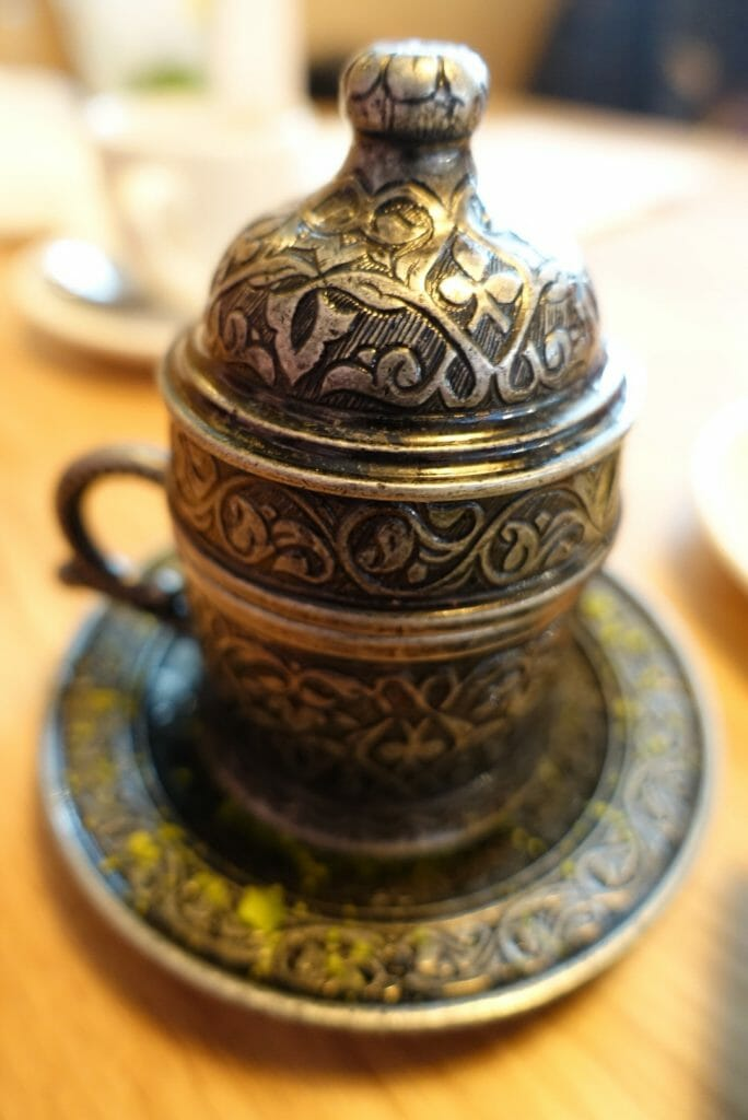Ornate dessert pot