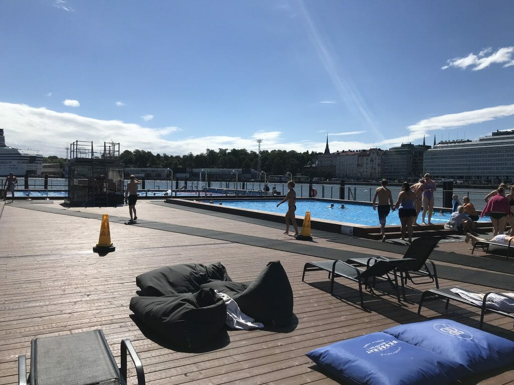 The slightly warmer main pool