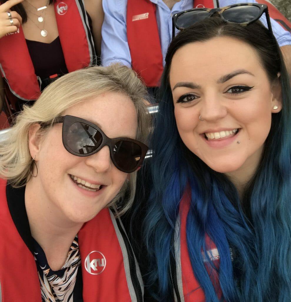 Selfie of Katie and Luisa-Christie