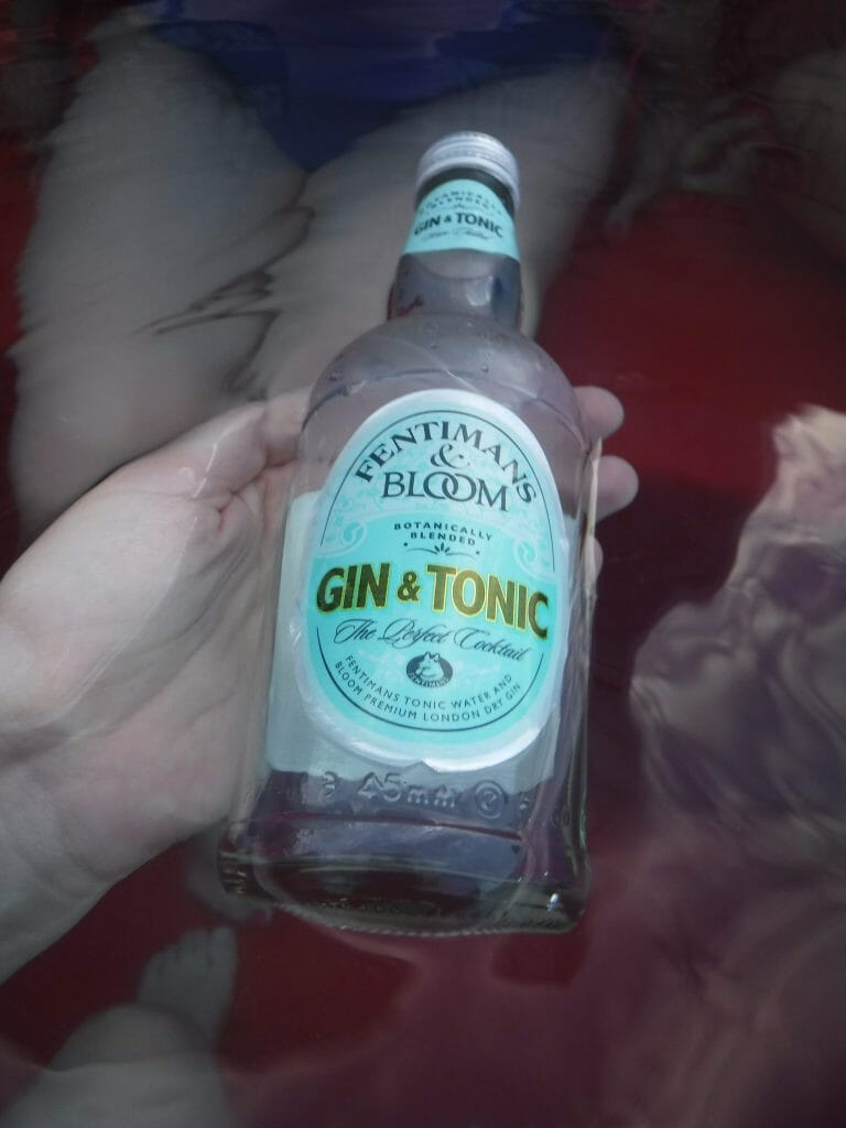 Fentimans tonic and Bloom gin pre-mixed bottle