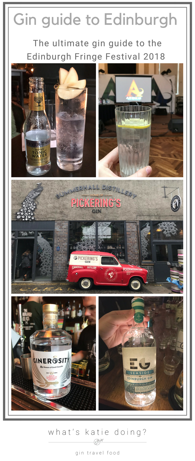 Gin guide to the Edinburgh Fringe Festival 2018