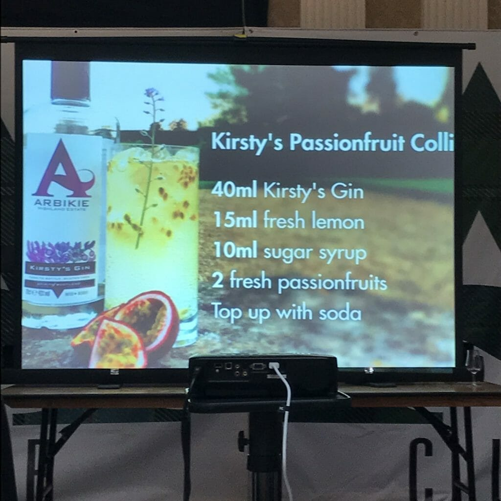 Recipe projected for Kirsty's Passionfruit Collins
