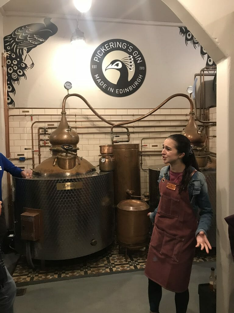 Our tour guide Katie beside the stills
