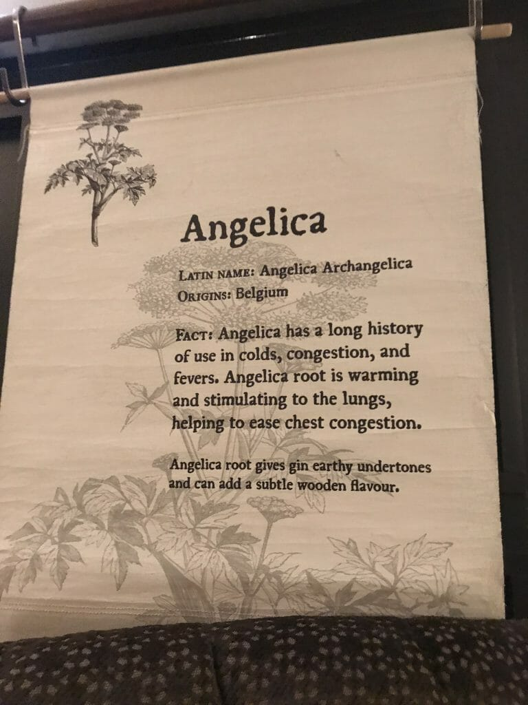 Information on angelica hanging in the tour room