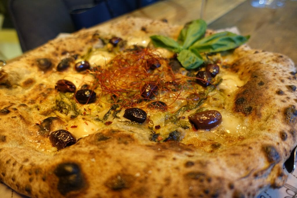 Plenty of olives on our special pizza, but no sun-dried tomatoes!