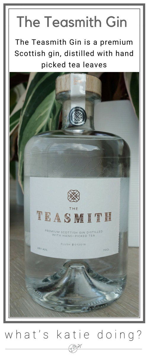 The Teasmith Gin, a premium Scottish gin distilled with hand-picked tea