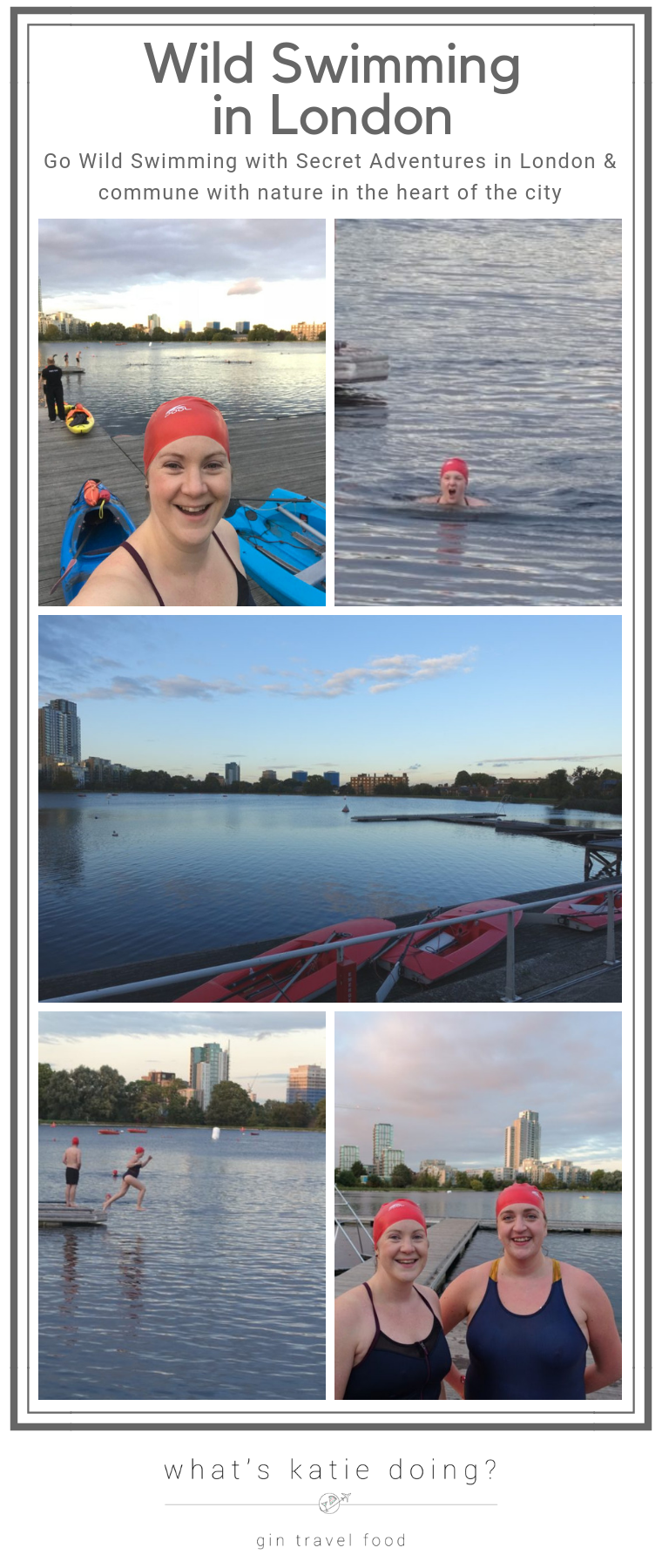 Wild Swimming in London, with Secret Adventures the 'cool' thing to do!