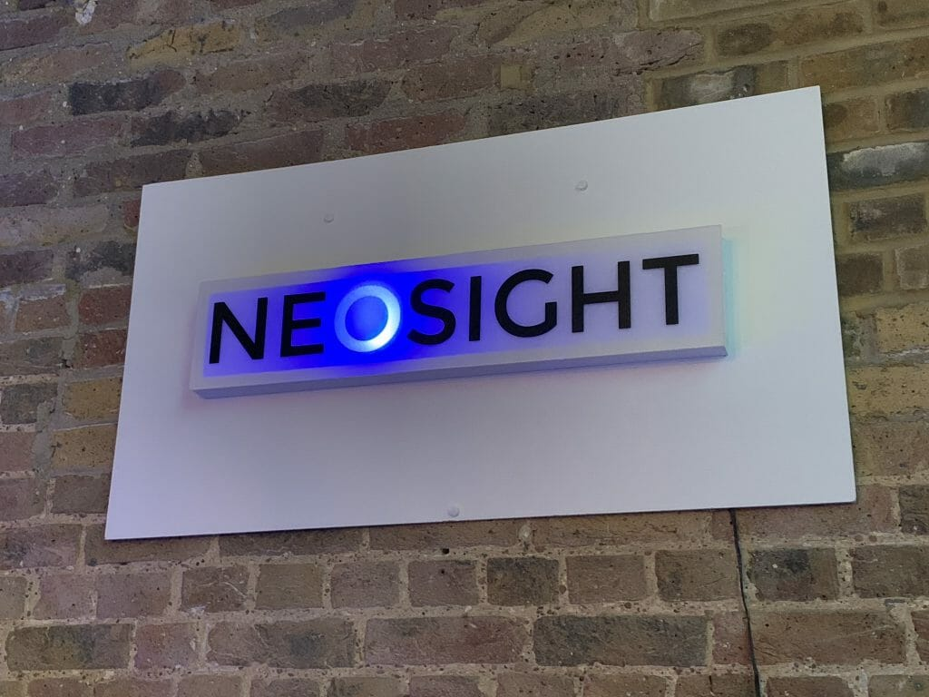 The Neosight sign