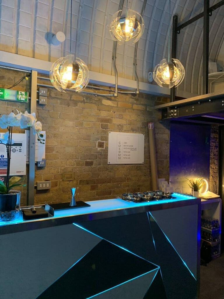 Futuristic Neosight reception area