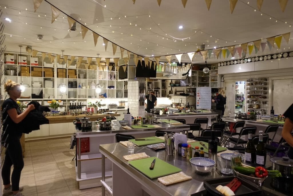 The Avenue Cookery School main space
