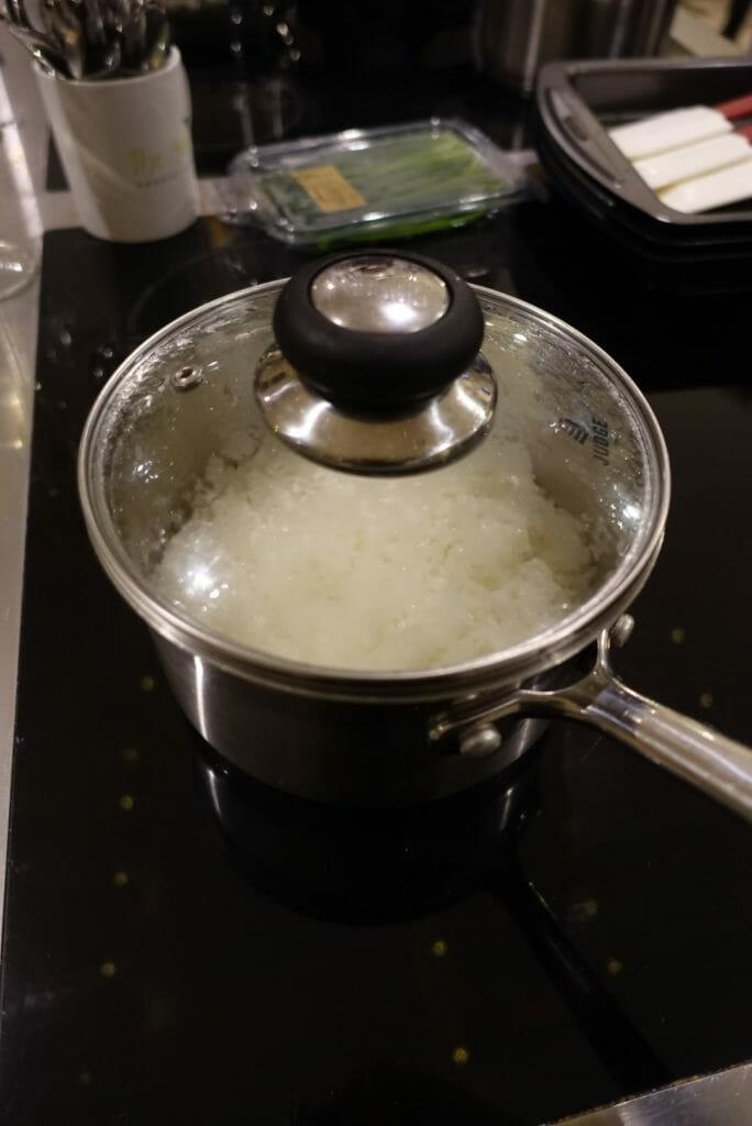 My rice pot on the hob