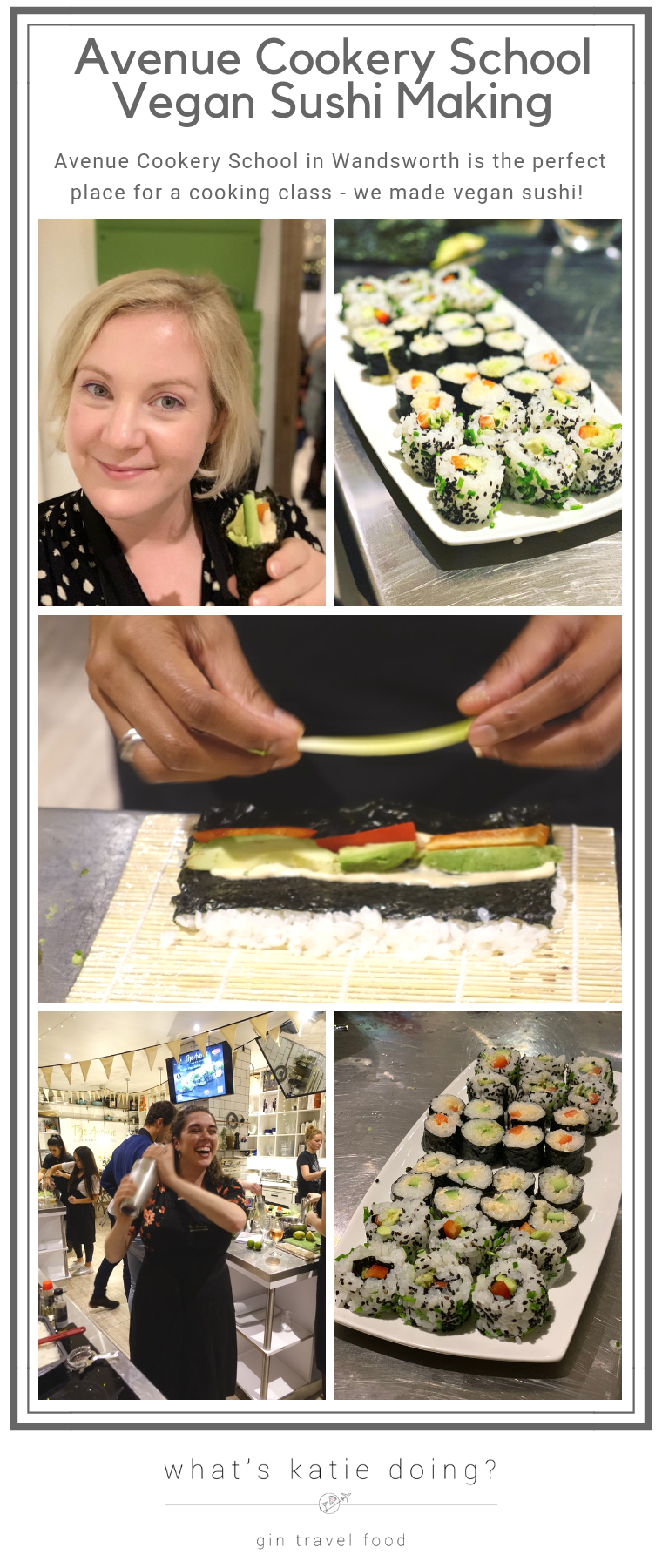 Vegan Sushi making at Avenue Cookery School in Wandsworth, London