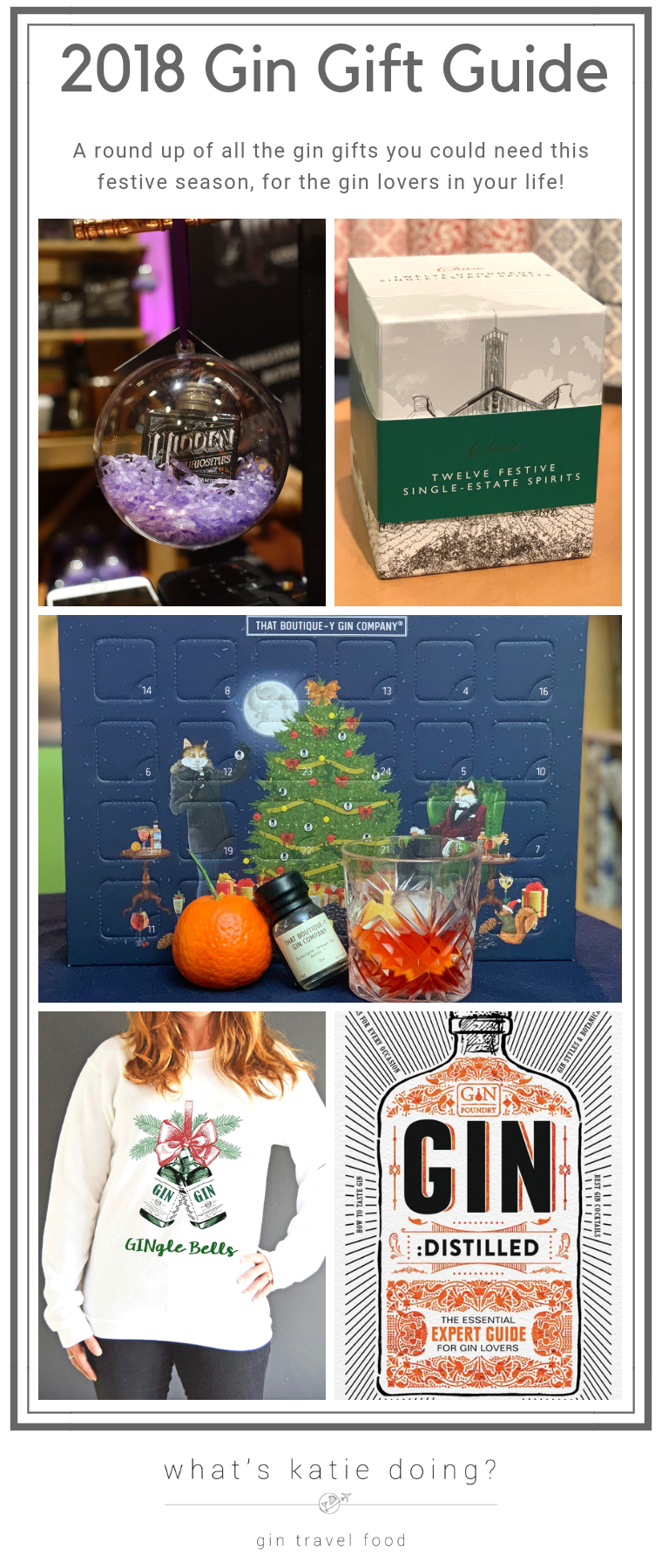 2018 Gin Gift Guide on What's Katie Doing? blog - a complete round up of everything gin!