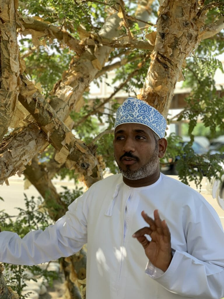Our guide Said in his traditional Omani cap and pristine white dish dash