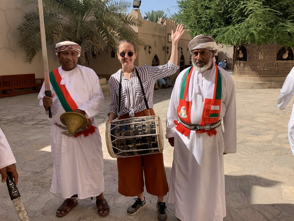 Men wearing traditional Omani style turbans with their dish dash