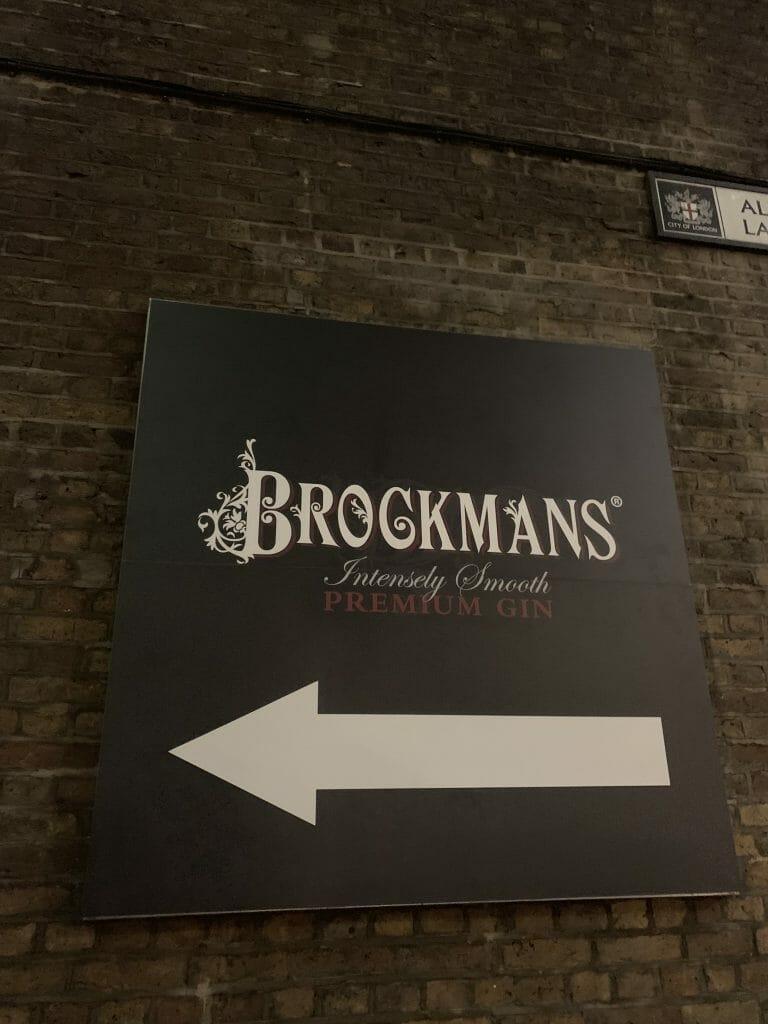 Brockmans Gin sign
