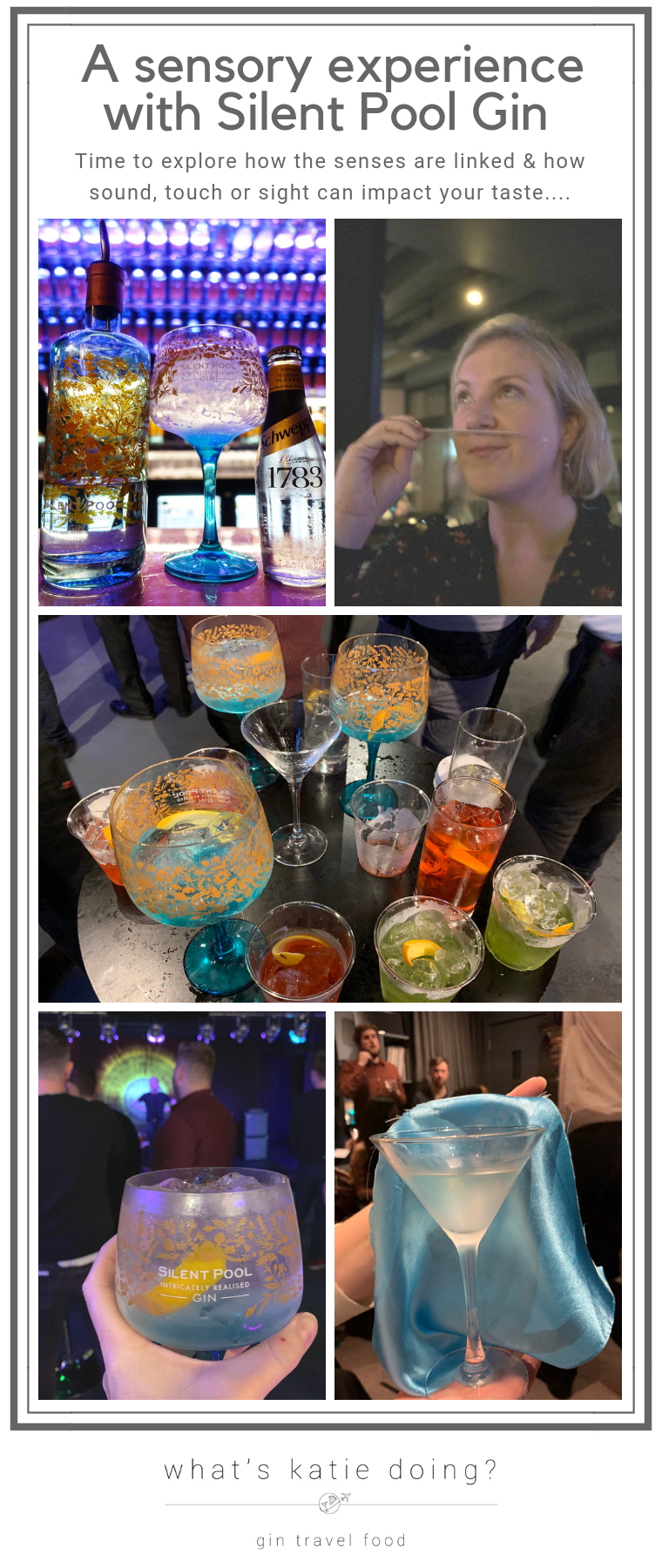 A sensory experience with Silent Pool gin on What's Katie Doing? blog. Time to explore how the senses impact each other in the world of gin!